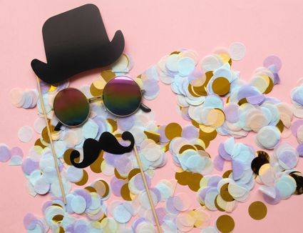 Carnival mask or photo booth props background