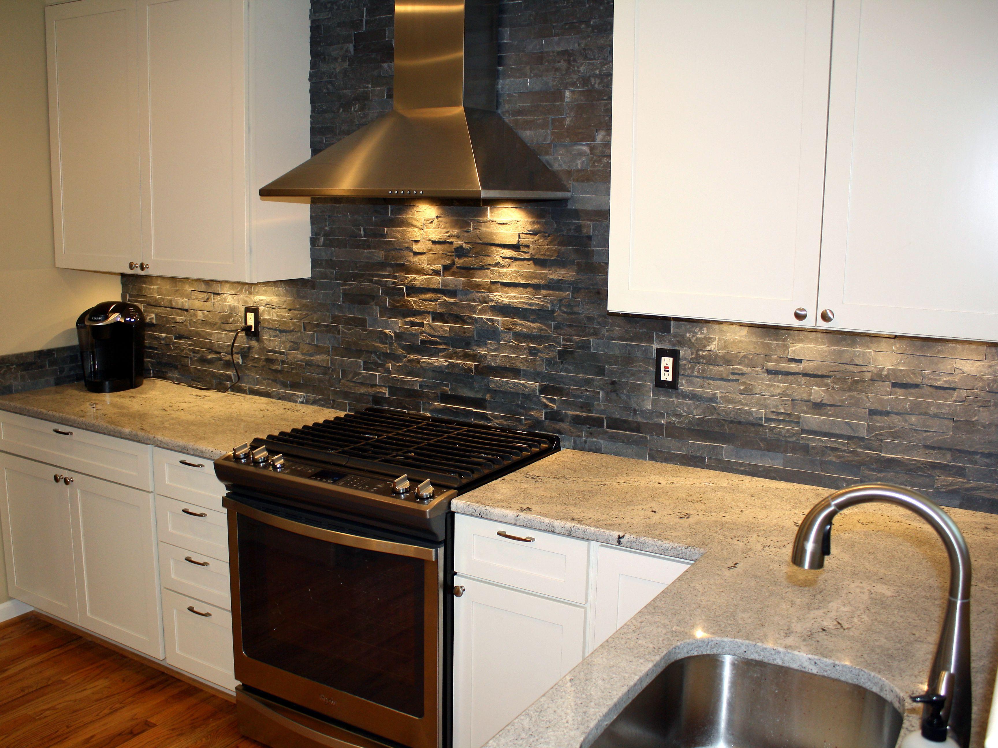 - 19 Stacked Stone Backsplashes For For Kitchens