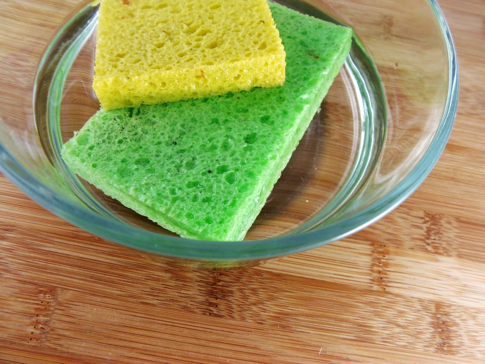 how to sanitize sponges