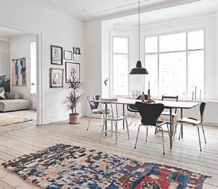 Oriental Rugs In Modern Scandinavian Design