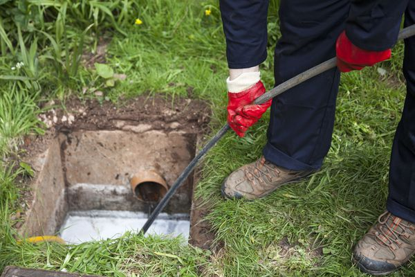 Cleaning Main Sewer Drain
