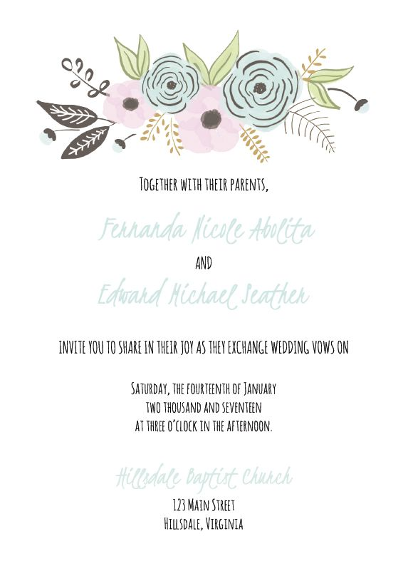 Wedding Invitations Templates Free | 550 Free Wedding Invitation Templates You Can Customize