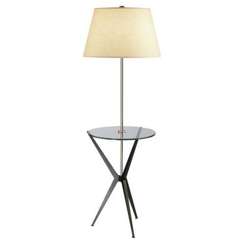 Robert Abbey Collin Saki Shade Tray Floor Lamp