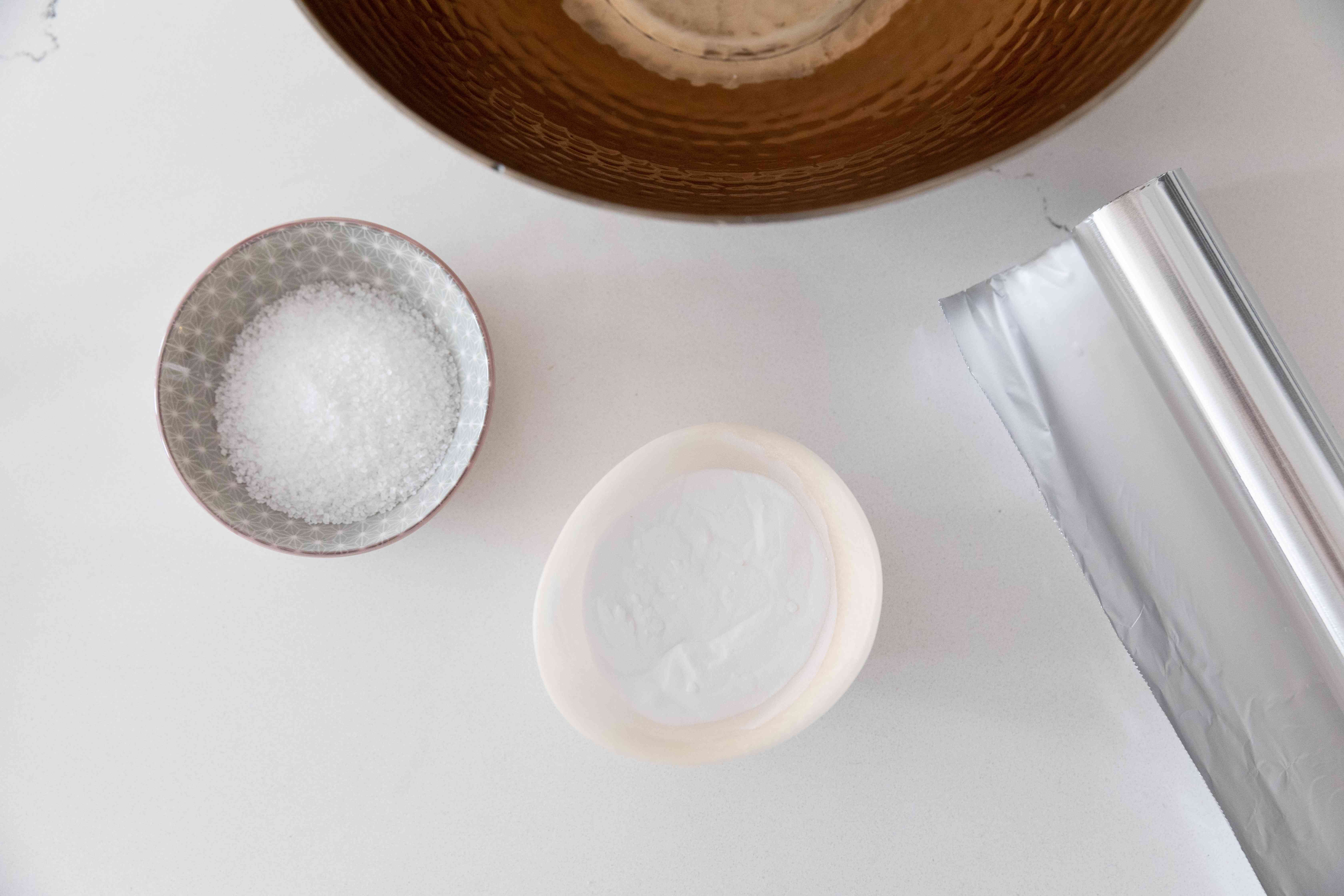 gathering silver-cleaning supplies