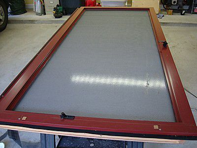 The screen installed in the screen door frame