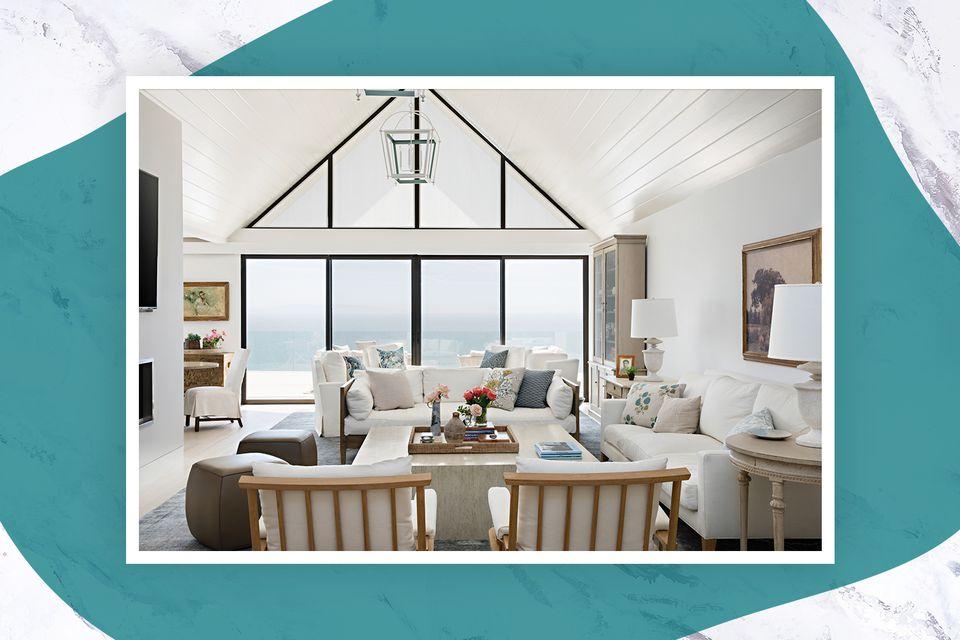 A living room in Santa Monica, California, designed by Chris Barrett