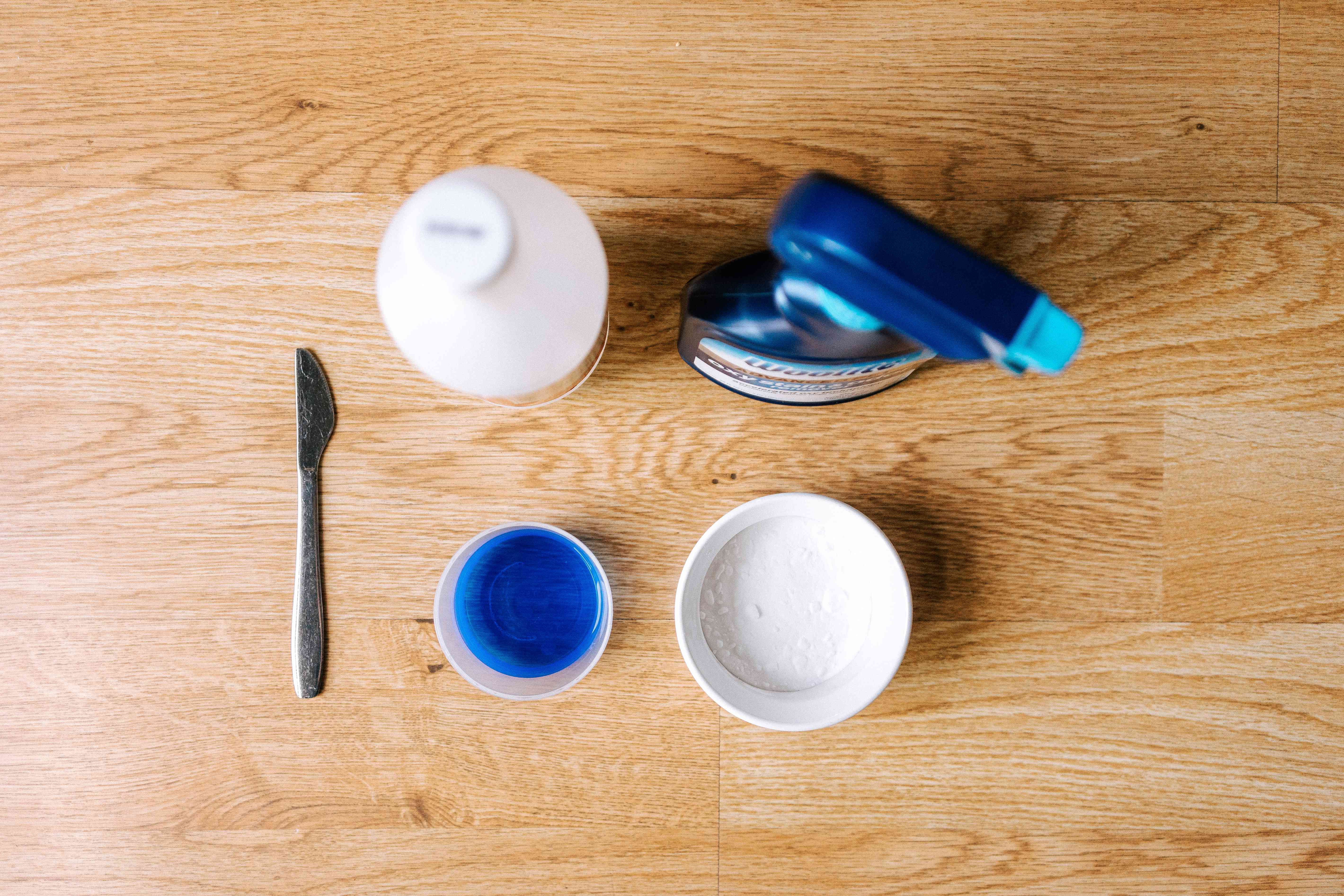 items for removing dried fruit stains
