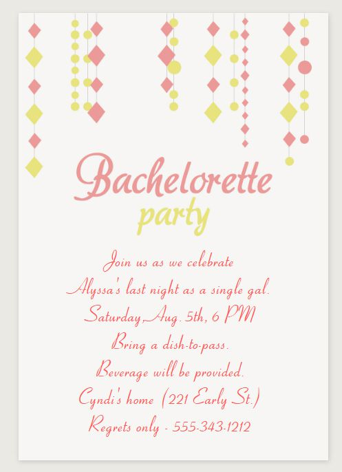 9 Free Bachelorette Party Invitation Templates