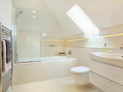 guests attic bathroom