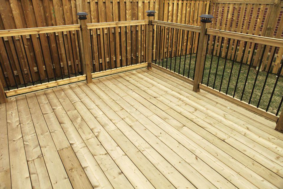 A wooden deck