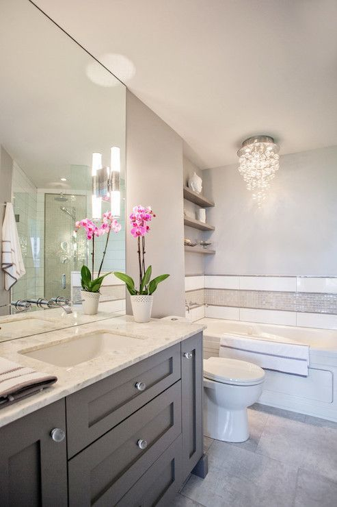 Pics Of Beautiful Bathrooms. Bathroom Gray Vanity