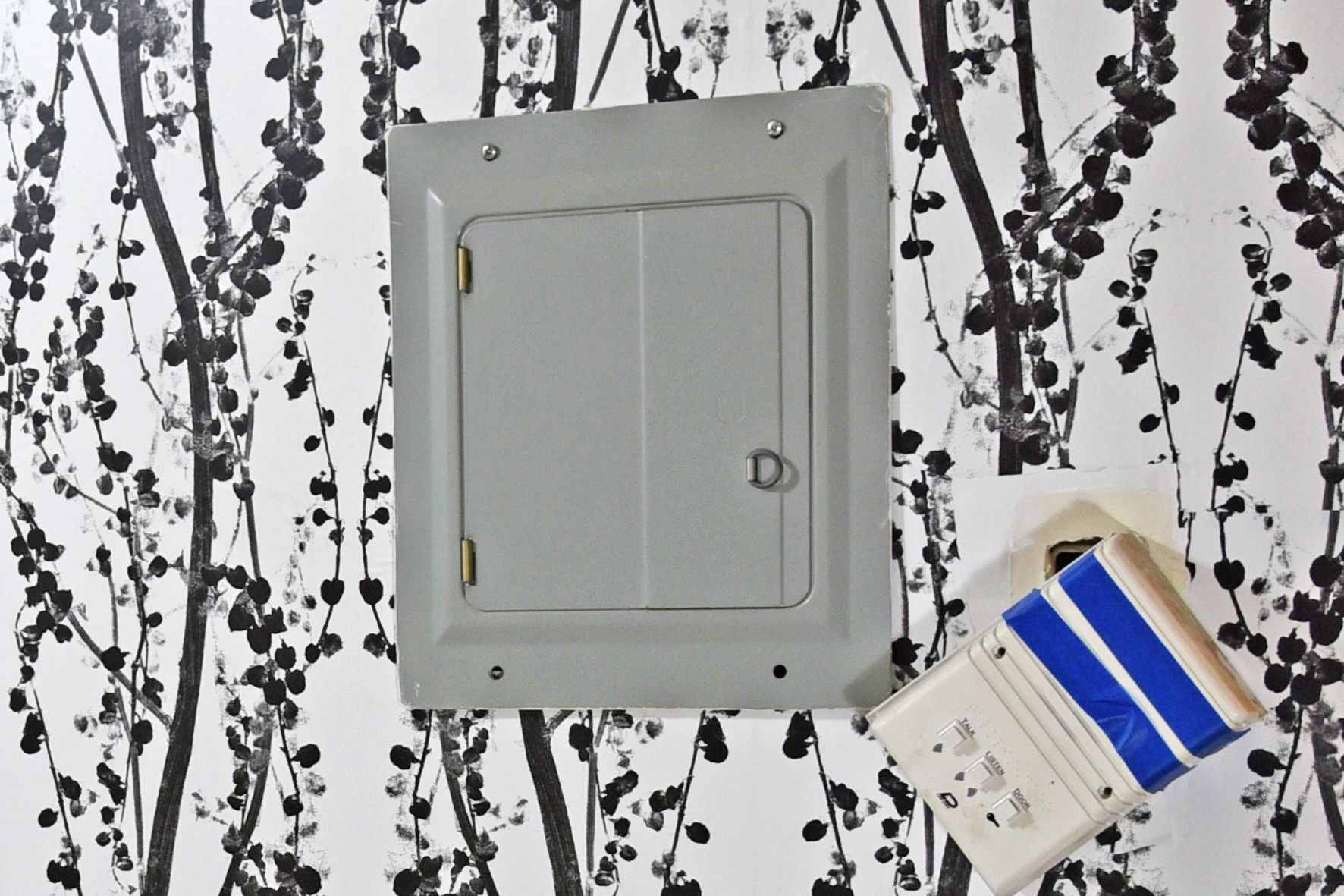 Hide Your Ugly Electrical Panel With This Ikea Hack Mount 18 Ways Distribution Box Electric Plastic Circuit Breaker