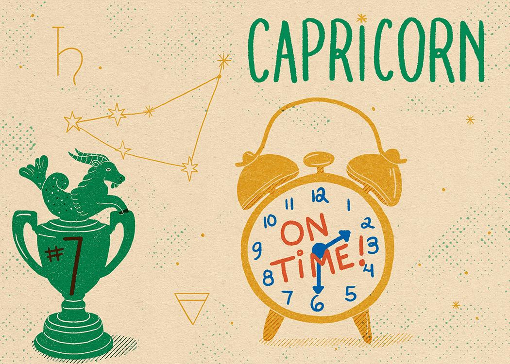 capricorn zodiac politeness illustration