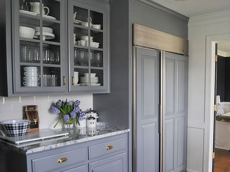 Beautiful Lampblack Painted Kitchen Cabinets