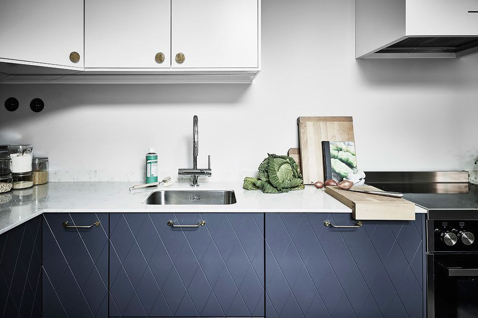 Superfront Blue Kitchen Cabinet Doors