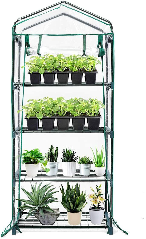 TOOCA 4-Tier Mini Greenhouse