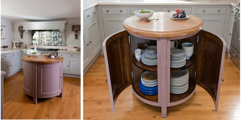 Small Circular Kitchen Island Worktable