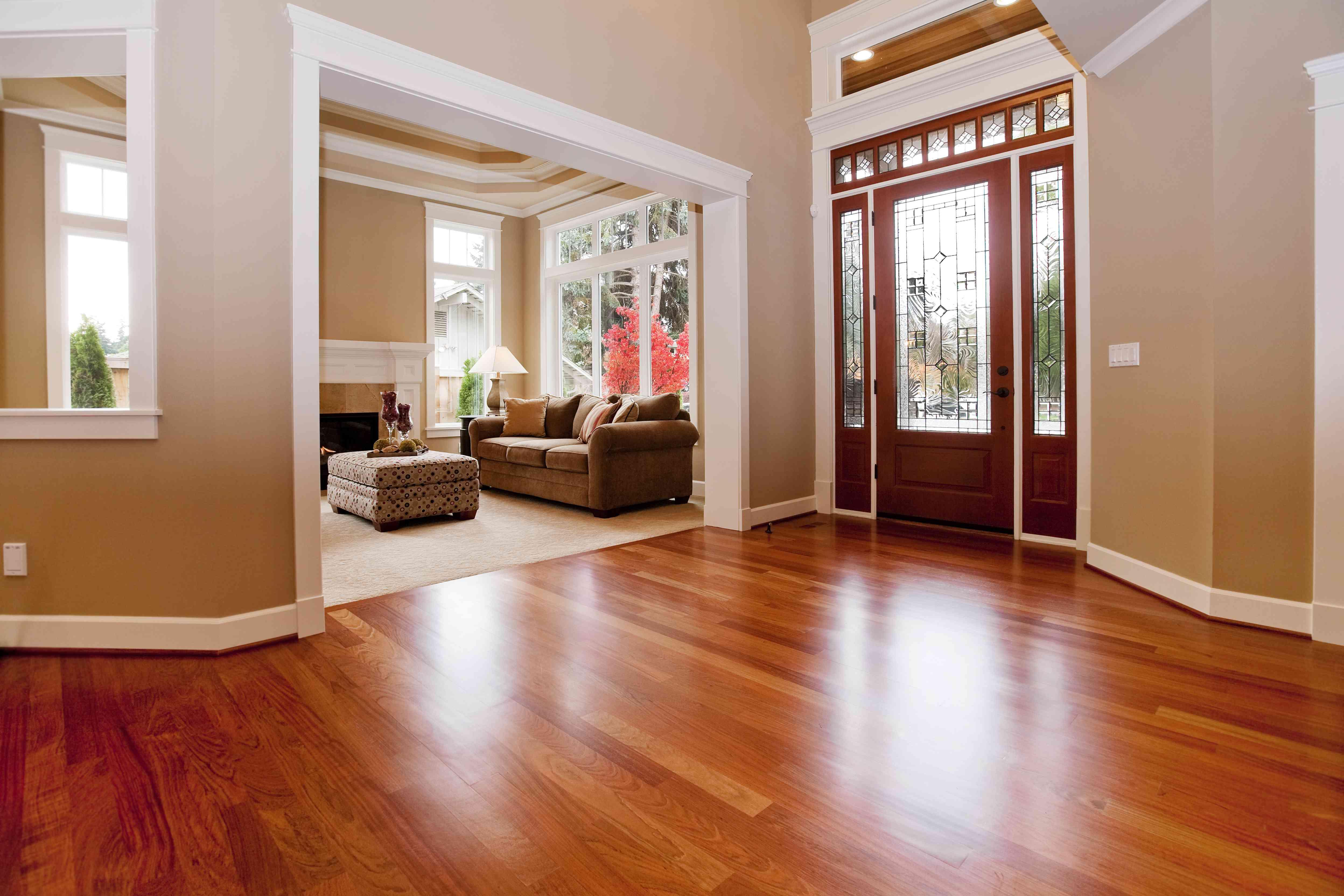 Beautiful New custom Entryway upscale home hardwood floors