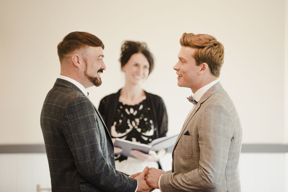 Same-sex couple getting married