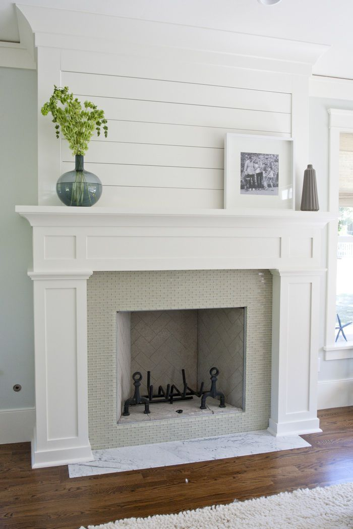 Shiplap mantle decor