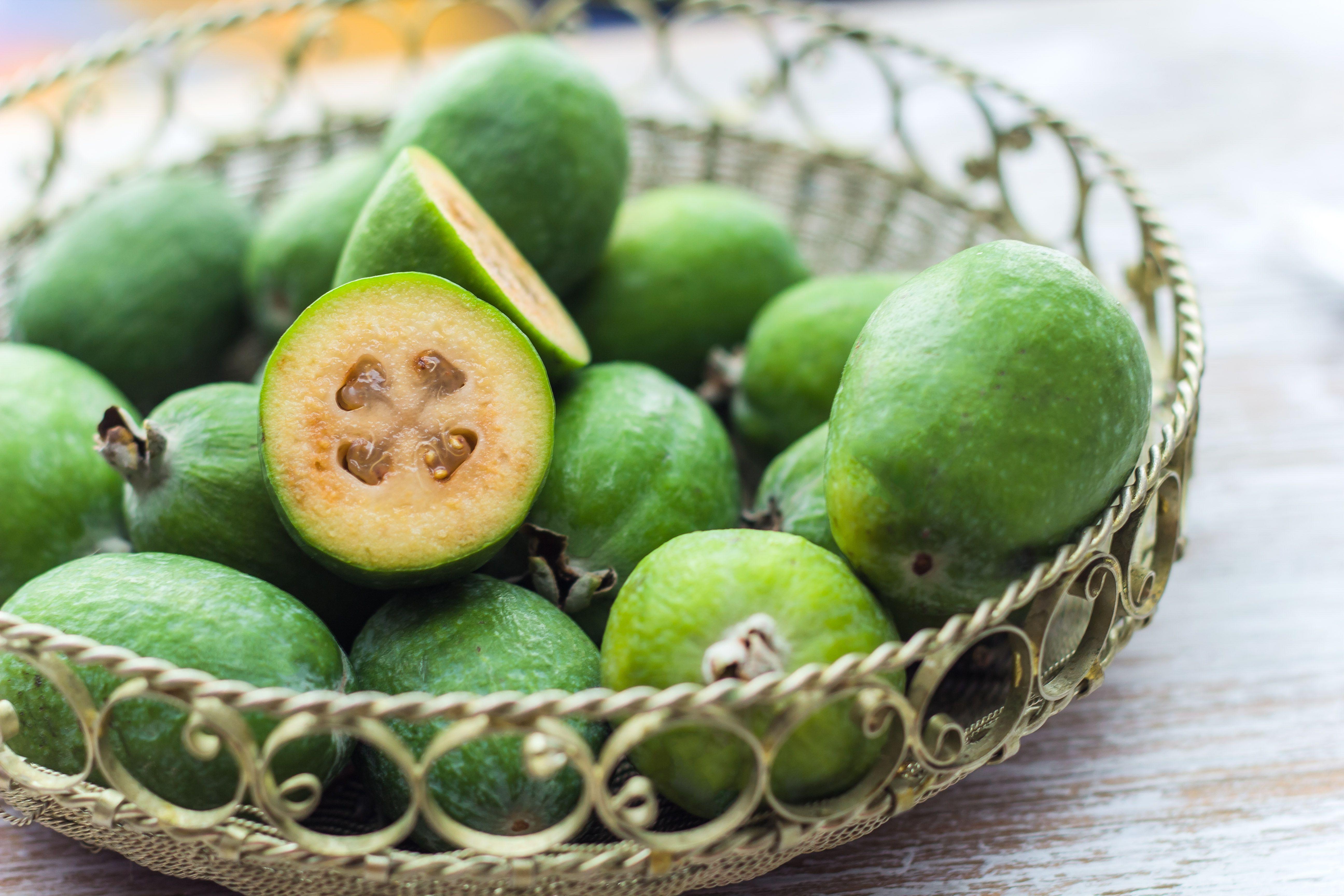 fresh feijoa fruit