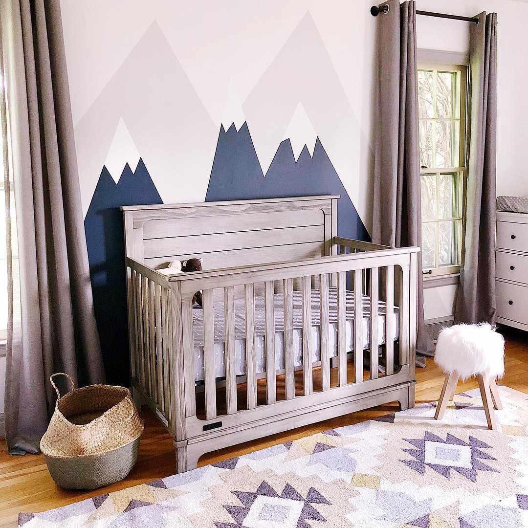 Nursery with southwestern decor