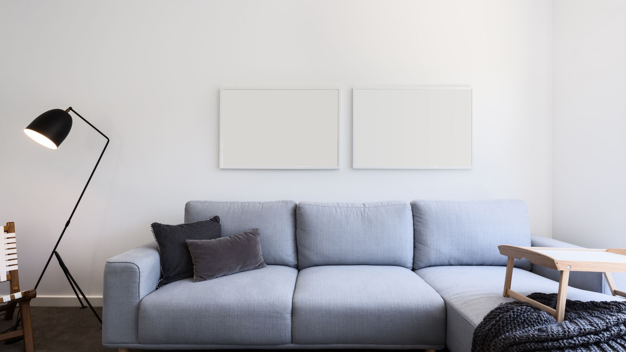 light grey couch decor