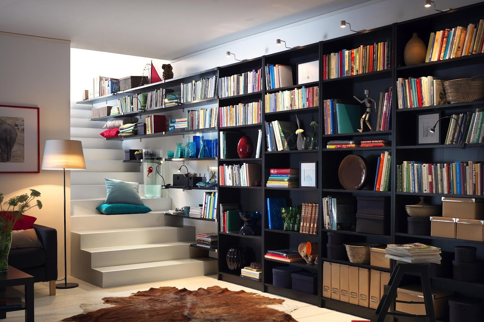 23 ingenious ikea billy bookcase hacks. Black Bedroom Furniture Sets. Home Design Ideas