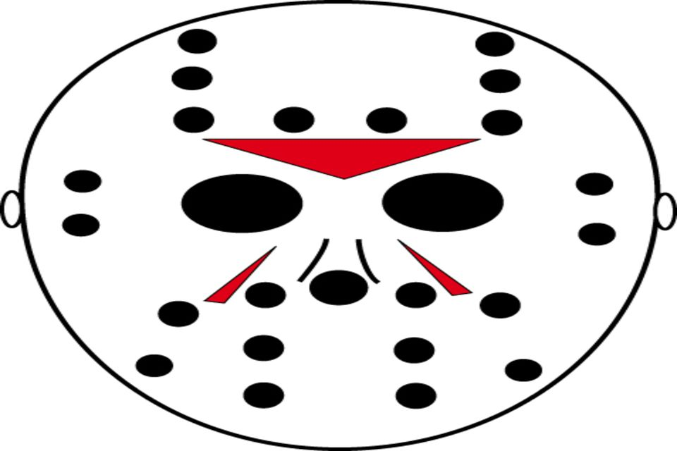 To Print For Jason Mask Pumpkin Stencil: Free Scary Pumpkin Stencils