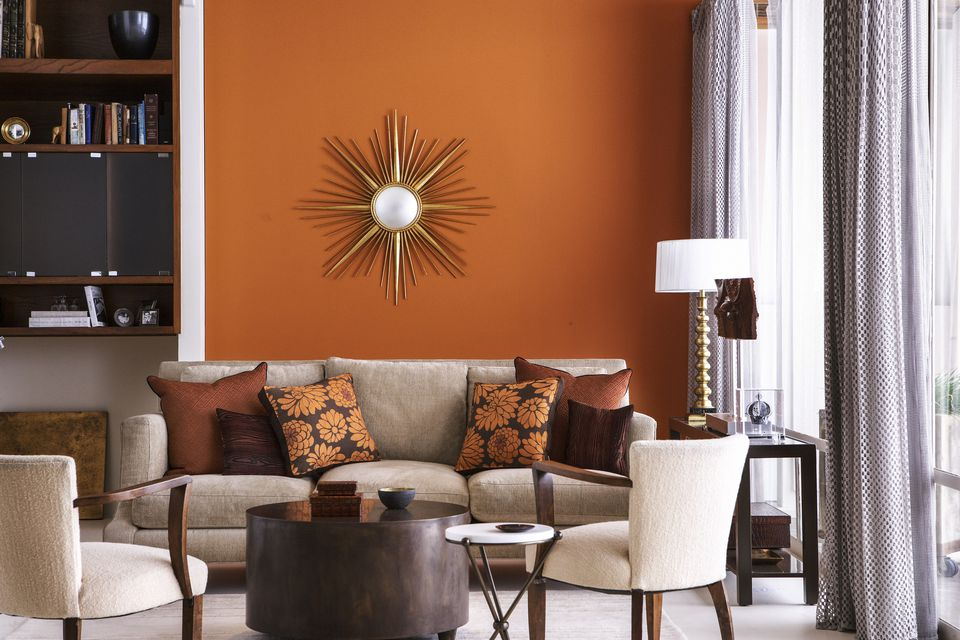 Warm color home decor