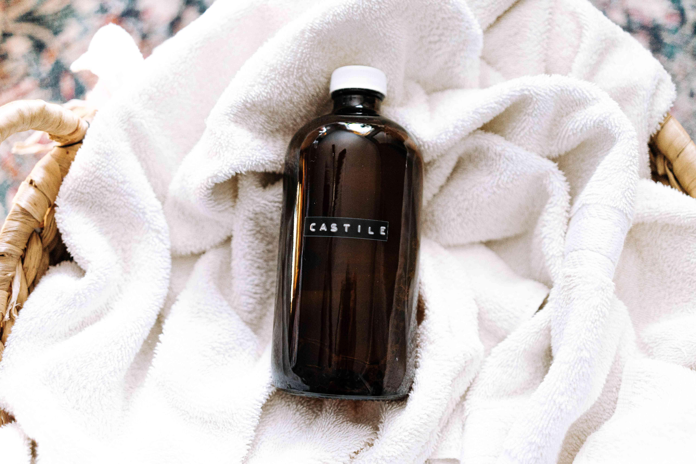 using castile soap spray in laundry