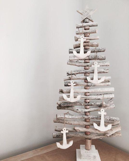 Árbol de Navidad de madera flotante