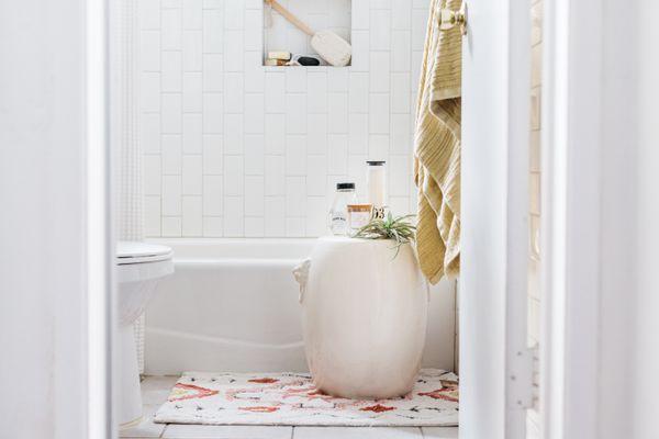 tile floor and wall in a bathroom