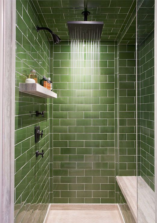 shower with green subway tile beautiful shower design