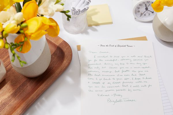 sample thank you letter for good service