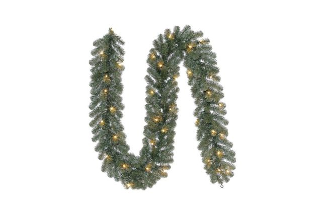 Pine garland with white lights