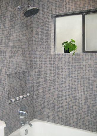 Ducha de mosaico Classic Charcoal Blend