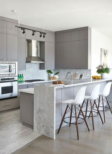 Waterfall Kitchen Countertops