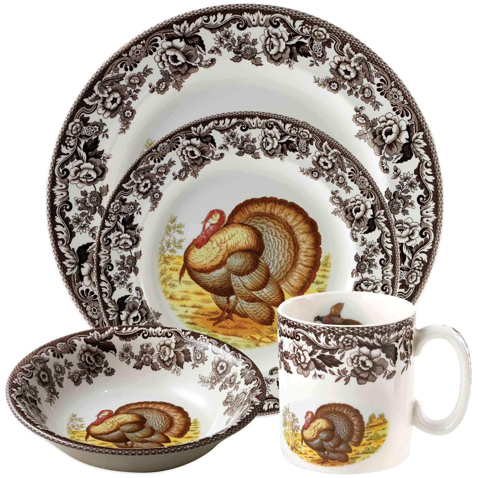 spode-turkey-plates