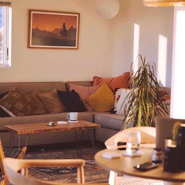 Living room with desert inspired art
