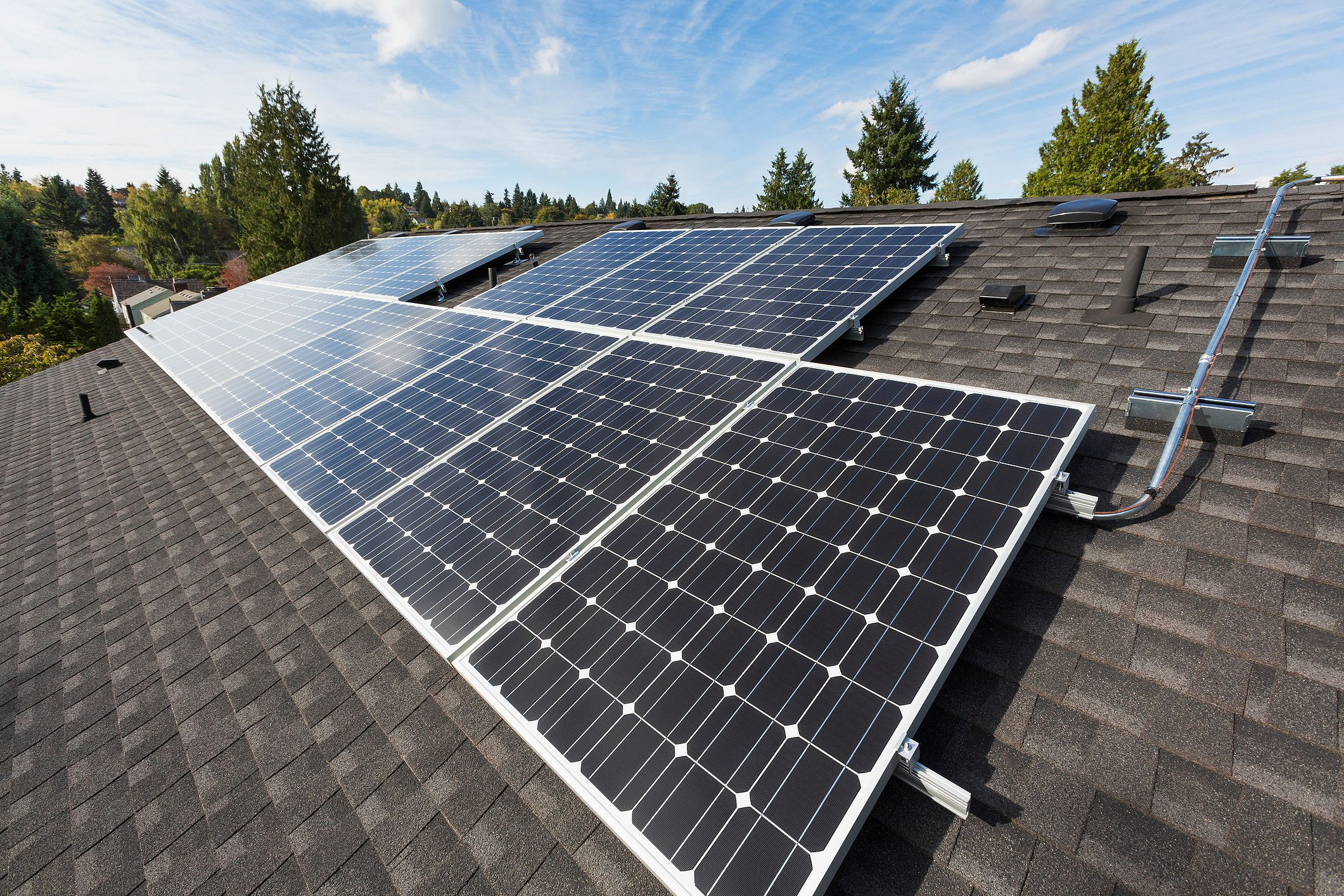 Paneles solares en el techo