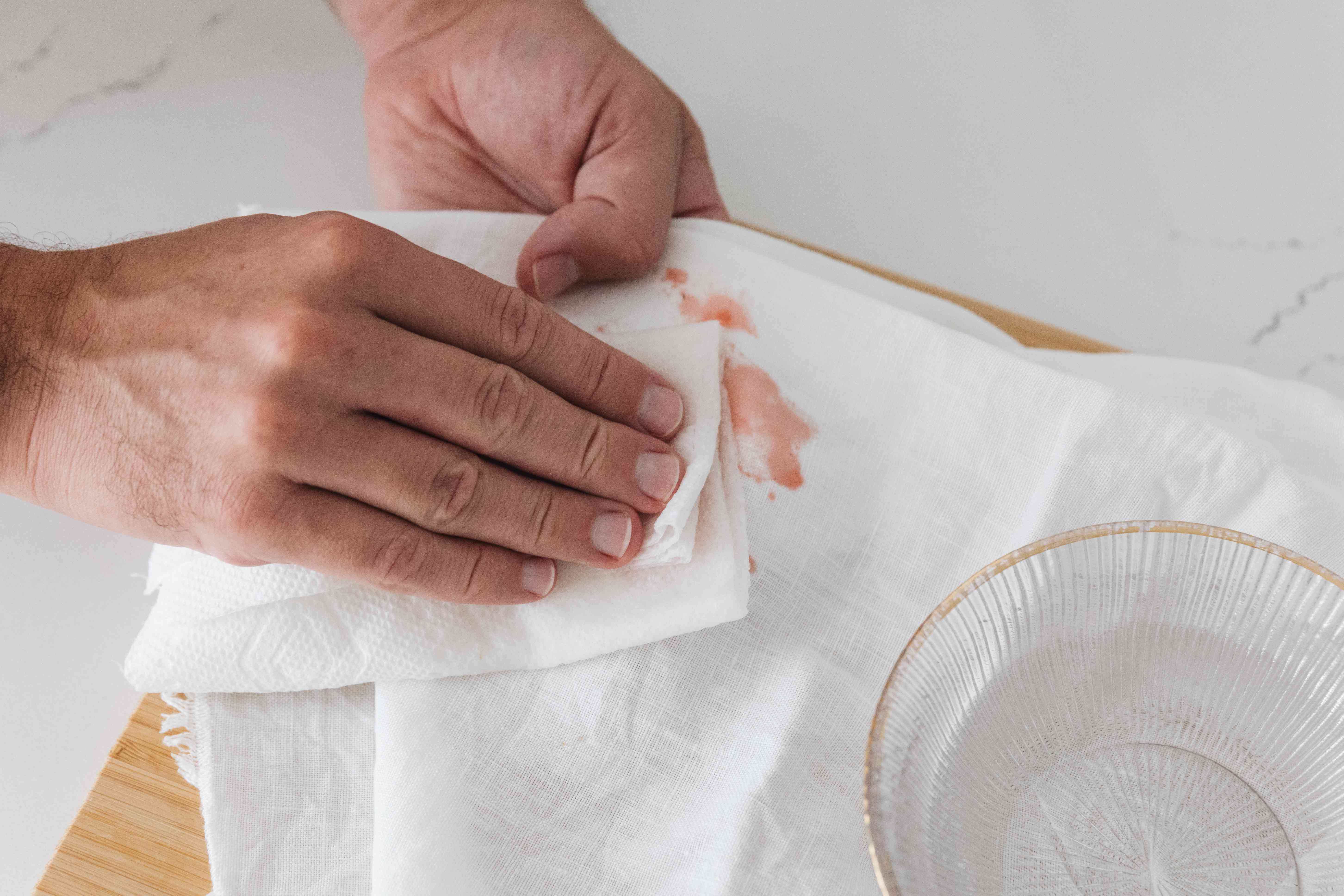 blotting dry clean only fabric