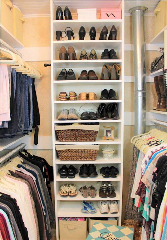 closet organized around ventilation flue