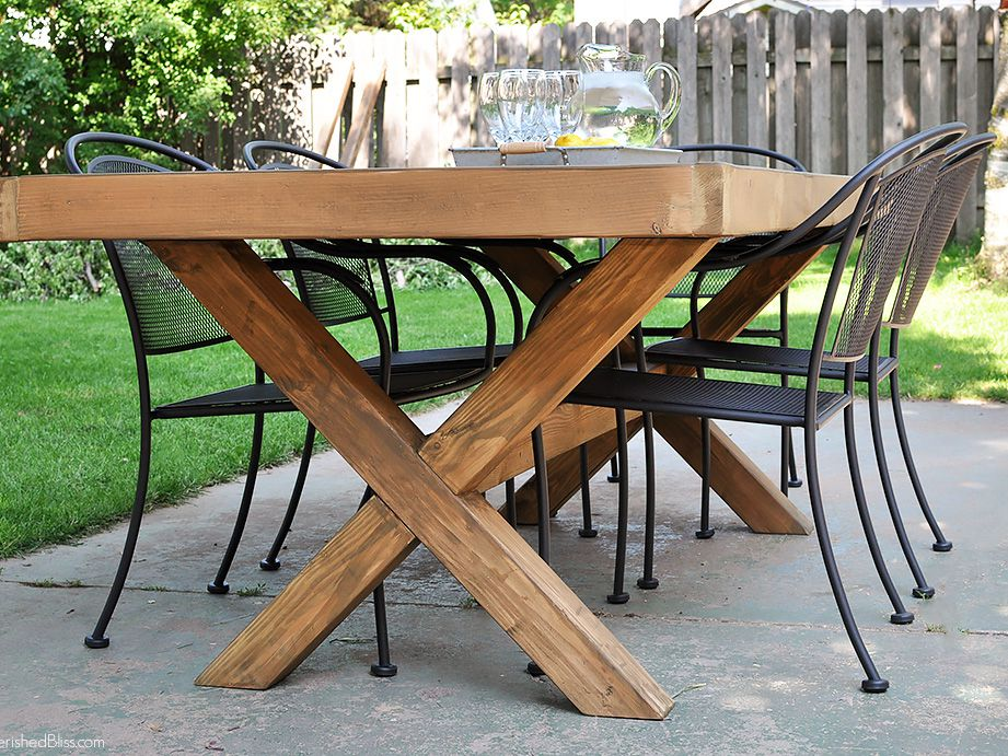 18 Diy Outdoor Table Plans, Wooden Outdoor Tables