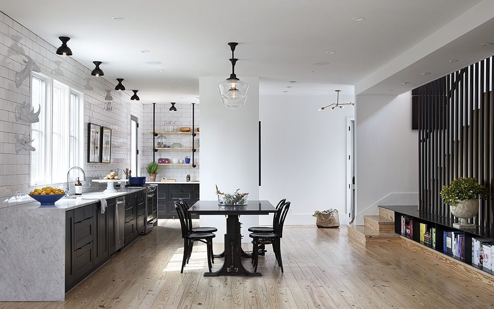 black base cabinets