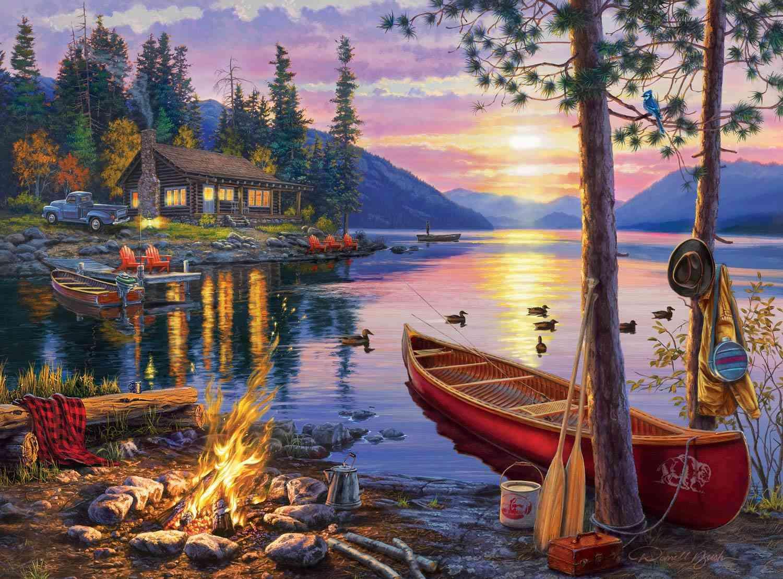 Buffalo Games Darrell Bush Canoe Lake