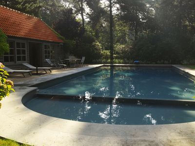 Timber Clad Summer House next to Swimming Pool, Belgium