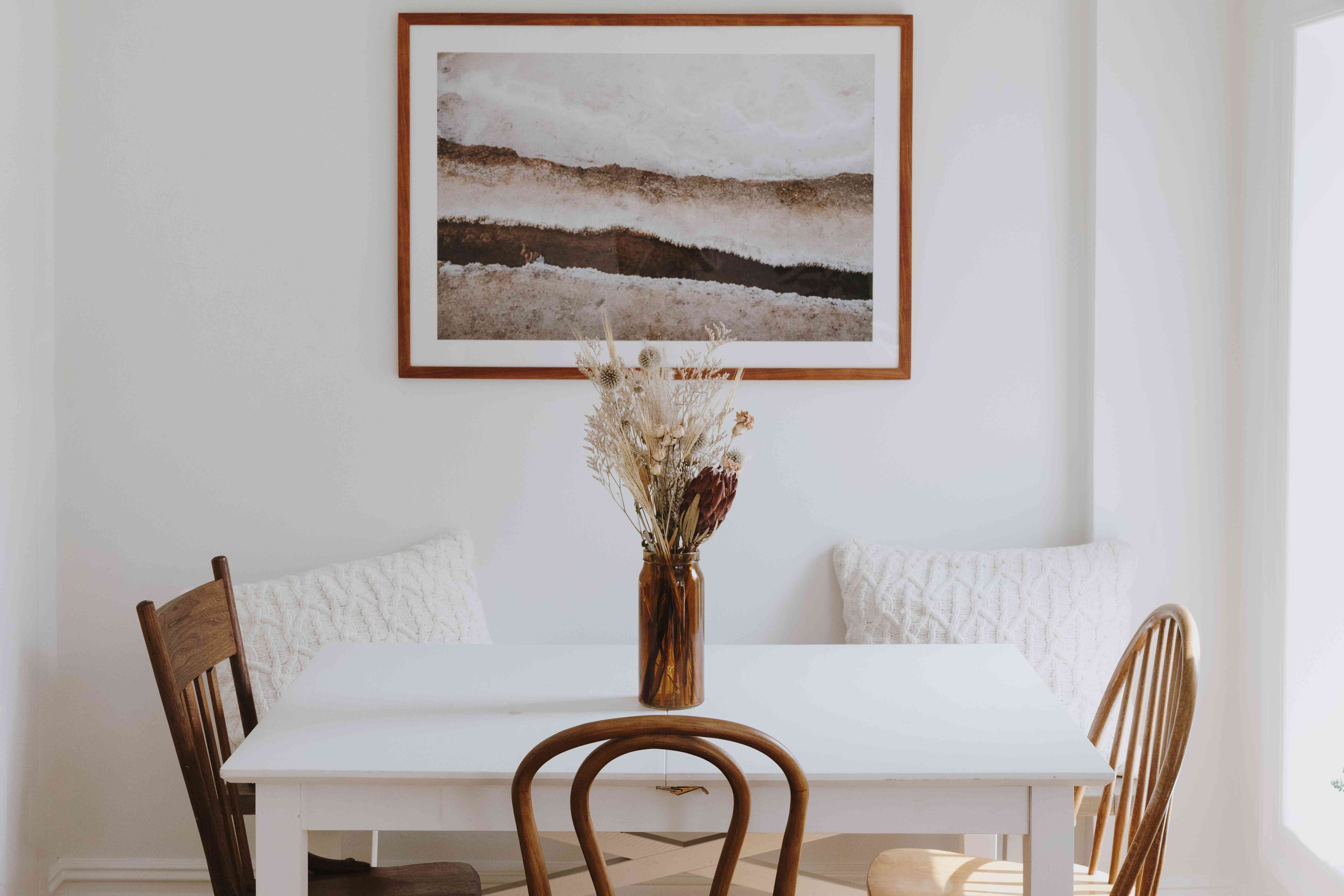 wooden furniture and frame