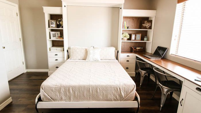 11 Money Saving Diy Murphy Bed Projects, How To Make A Murphy Bed With Desk