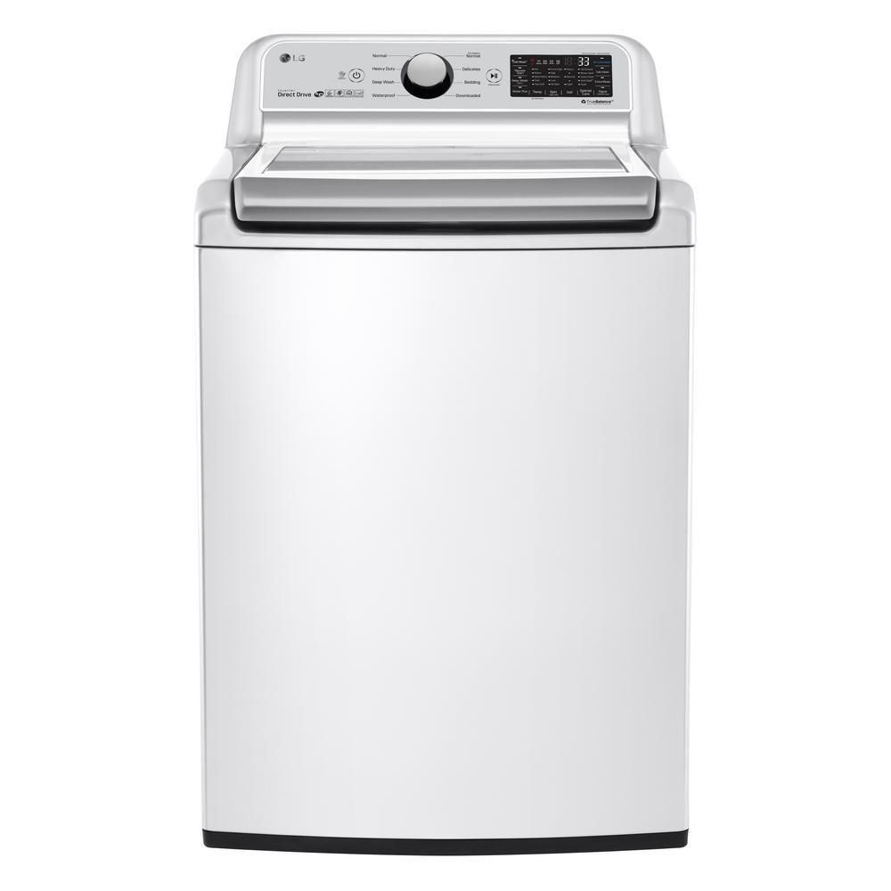 White LG Smart Washer